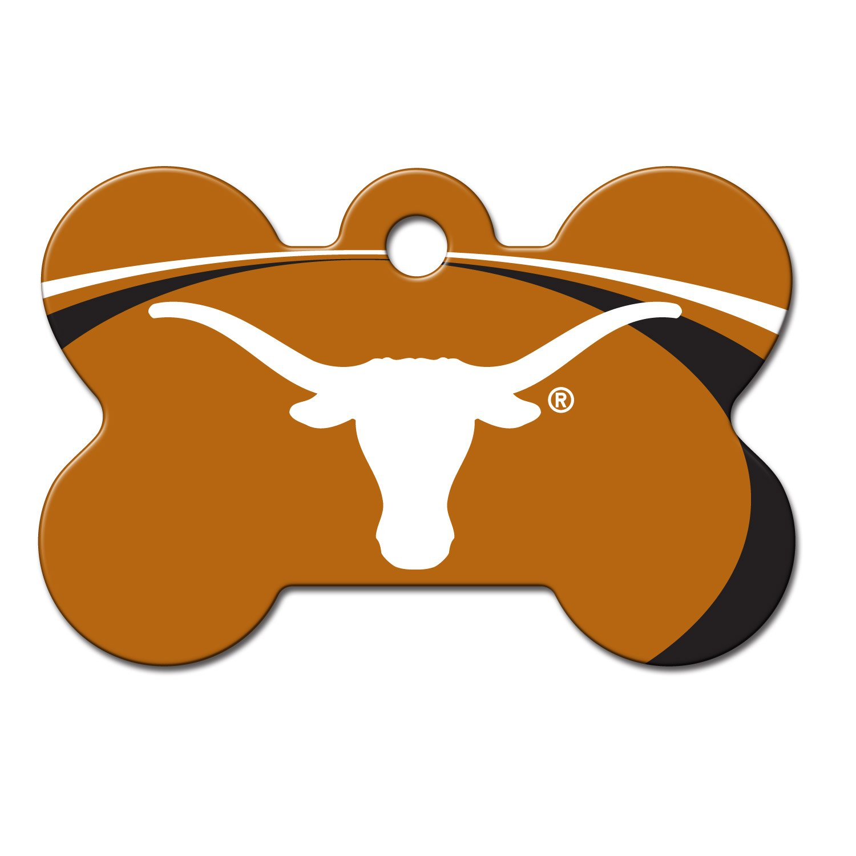 Quick tag texas longhorns ncaa bone personalized engraved pet id quick tag texas longhorns ncaa bone personalized engraved pet id tag large petco sciox Images