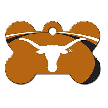 Quick-Tag Texas Longhorns NCAA Bone Personalized Engraved Pet ID Tag, Large