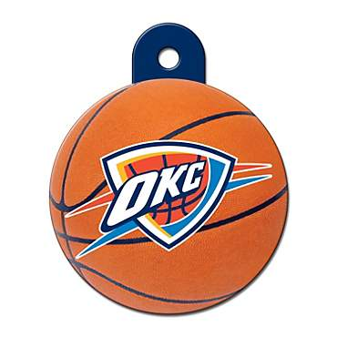 Quick-Tag Oklahoma City Thunder NBA Circle Personalized Engraved Pet ID Tag, Large