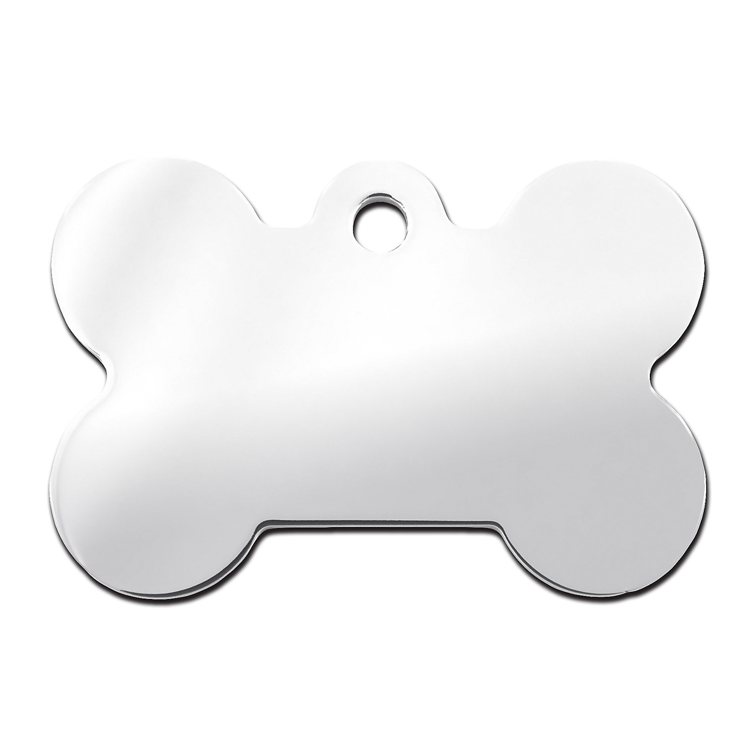 Quick Tag Chrome Bone Personalized Engraved Pet Id Tag Large