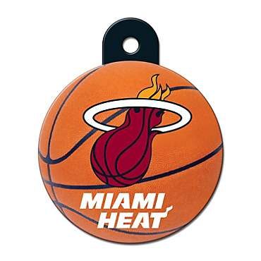 Quick-Tag Miami Heat NBA Circle Personalized Engraved Pet ID Tag, Large