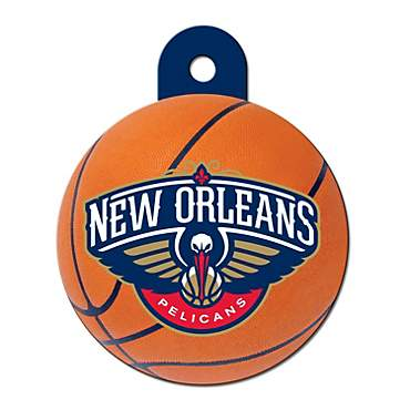 Quick-Tag New Orleans Pelicans NBA Circle Personalized Engraved Pet ID Tag, Large