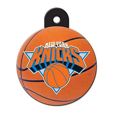 Quick-Tag New York Knicks NBA Circle Personalized Engraved Pet ID Tag, Large
