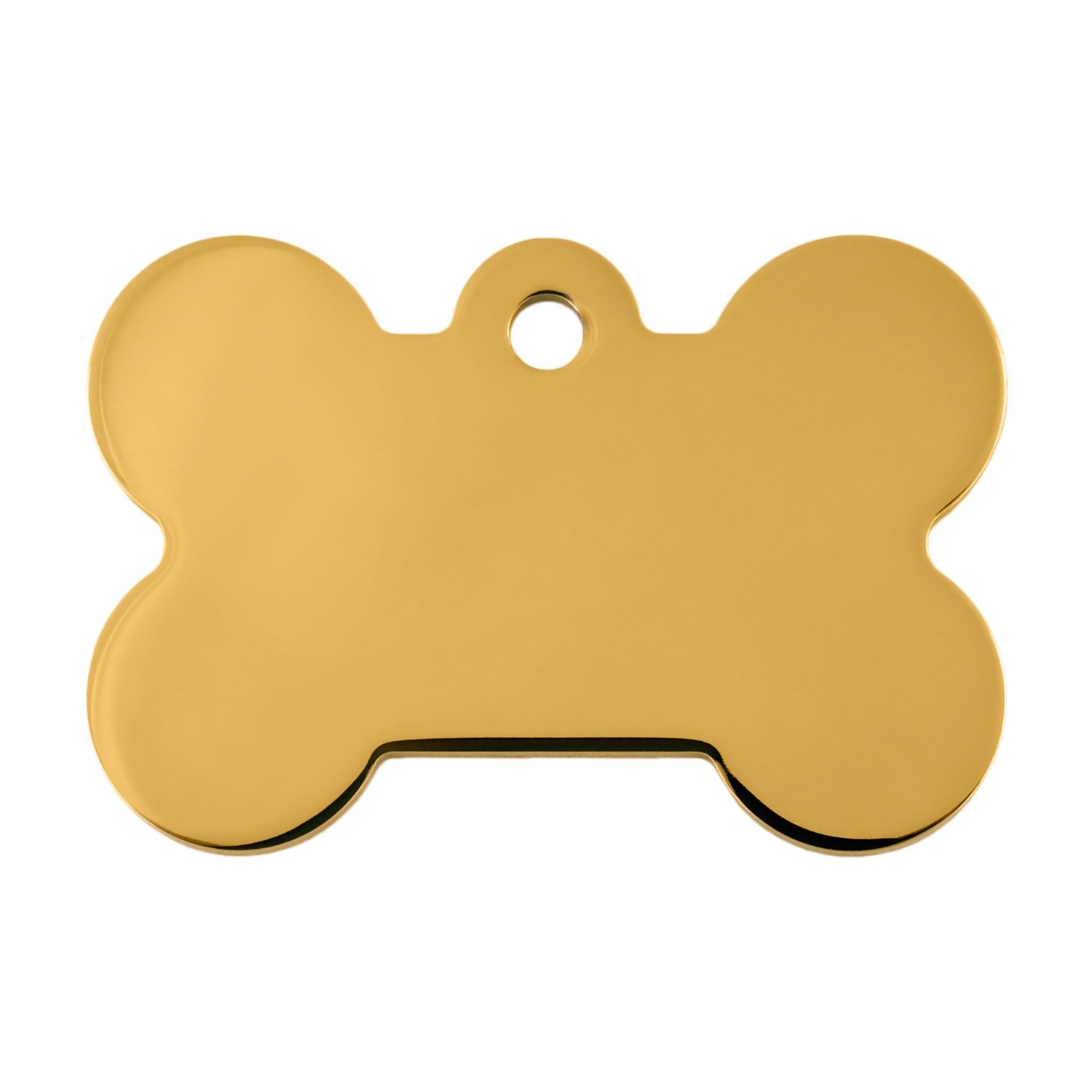Quick Tag Gold Bone Personalized Engraved Pet ID Large