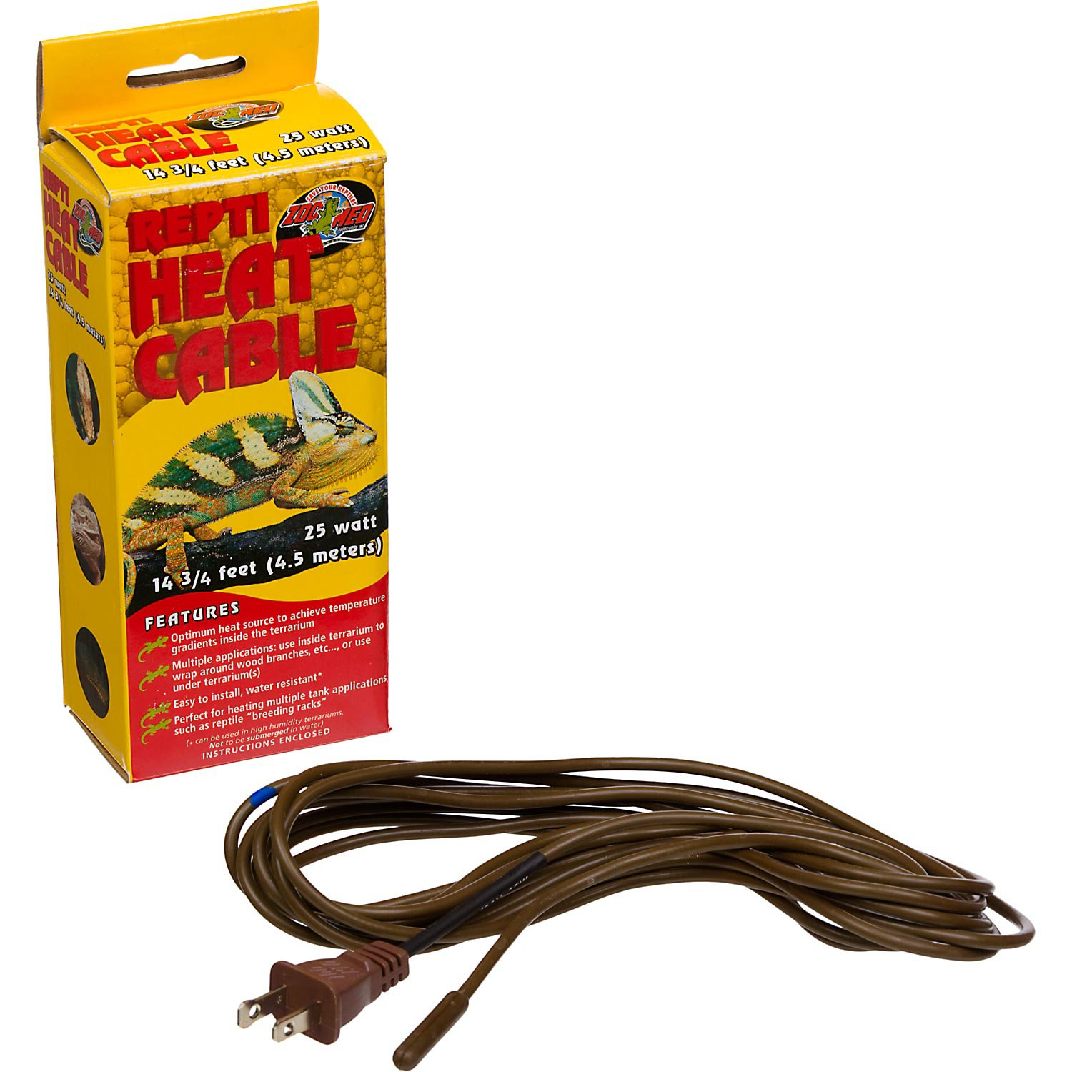 Zoo Med Repti Heat Cable 14 75 Length Petco