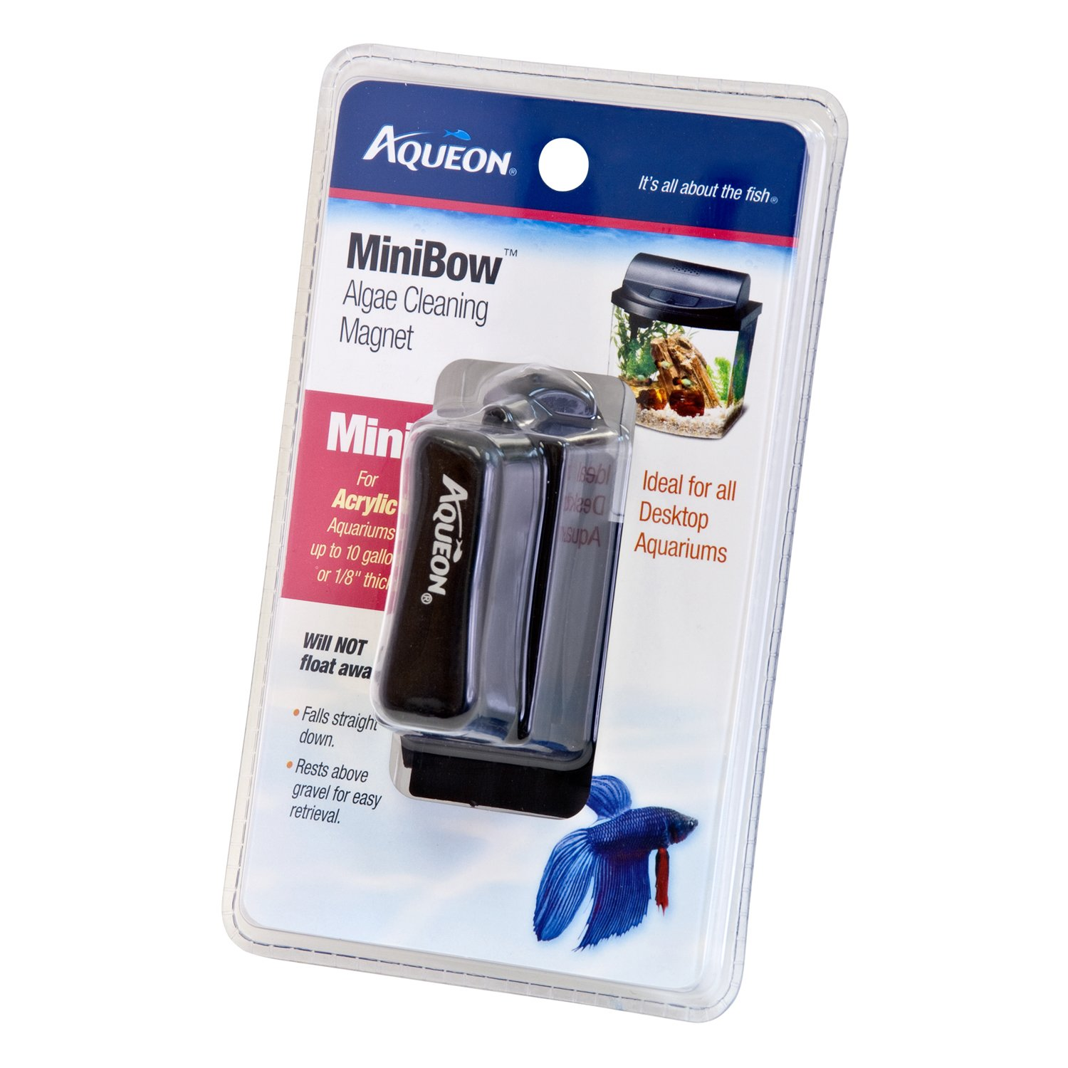 Aqueon Mini Bow Algae Cleaning Aquarium Magnet  8e1a17ad8a34