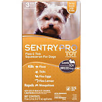 Sentry Pro Squeeze-On Toy & Small Breed Dog Flea & Tick Treatment