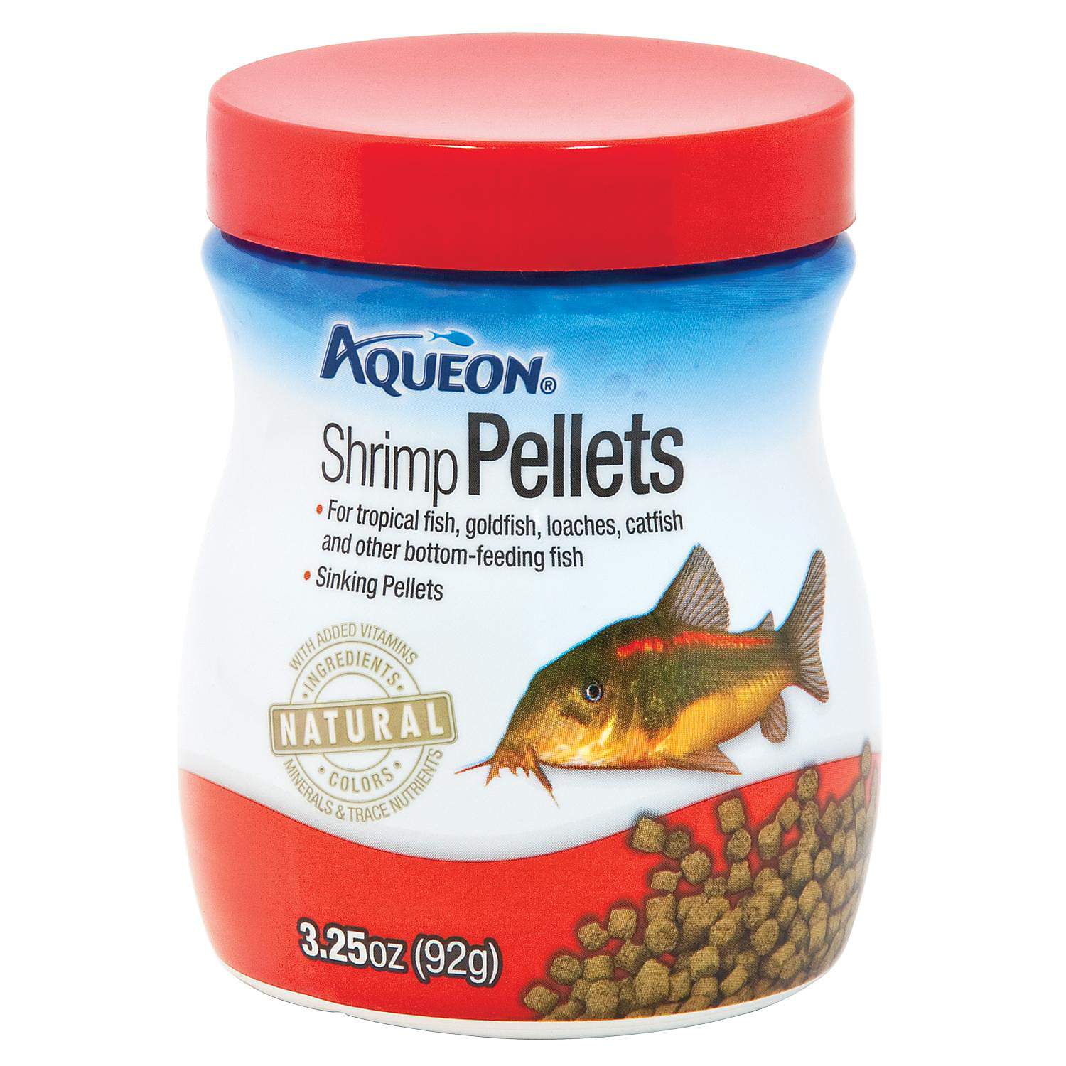 Aqueon Shrimp Pellets Fish Food 3.25 Oz.