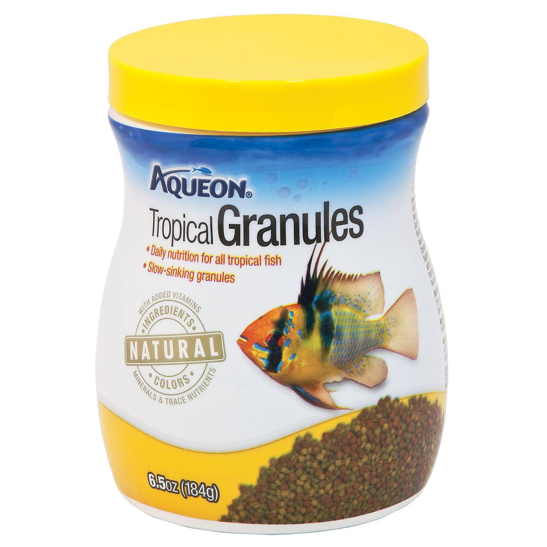 Aqueon Tropical Granules Tropical Fish Food 6.5 Oz.