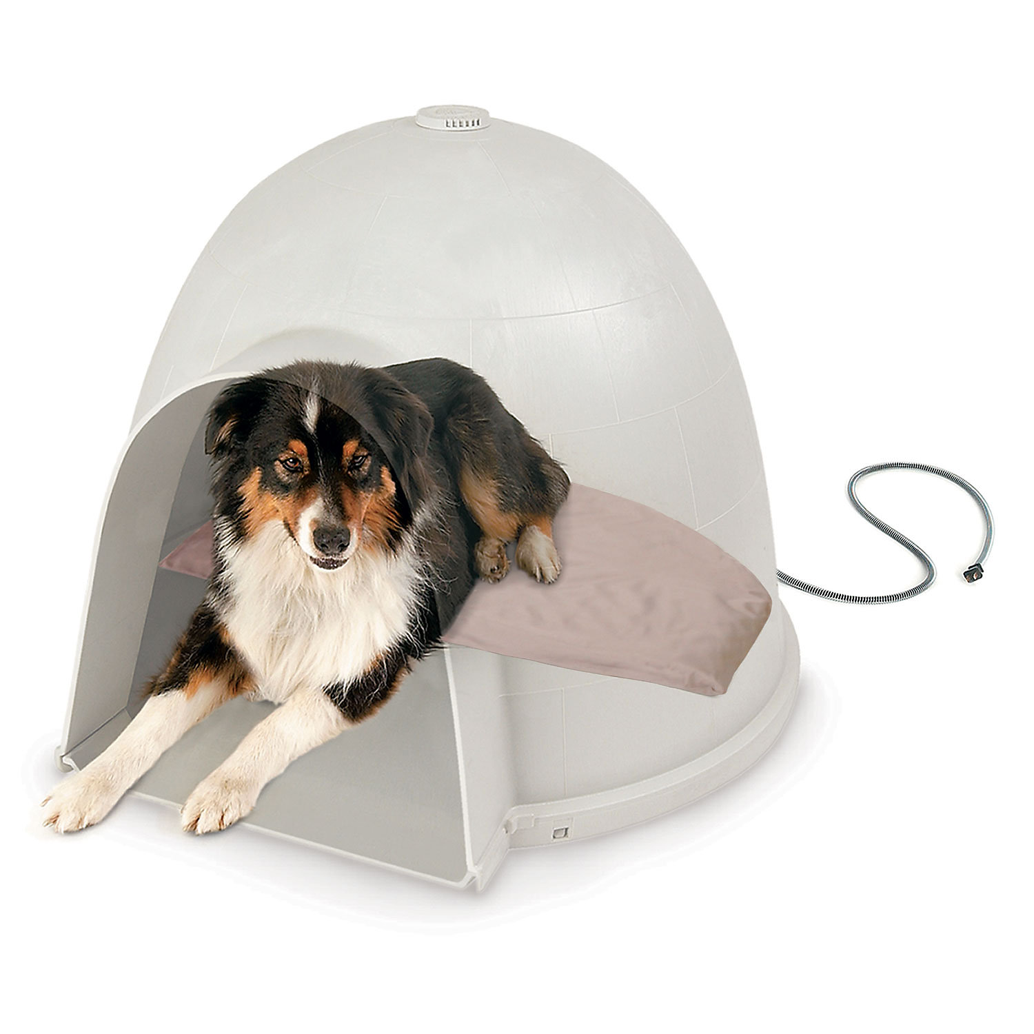 Kh Lectro Soft Igloo Style Heated Dog Bed