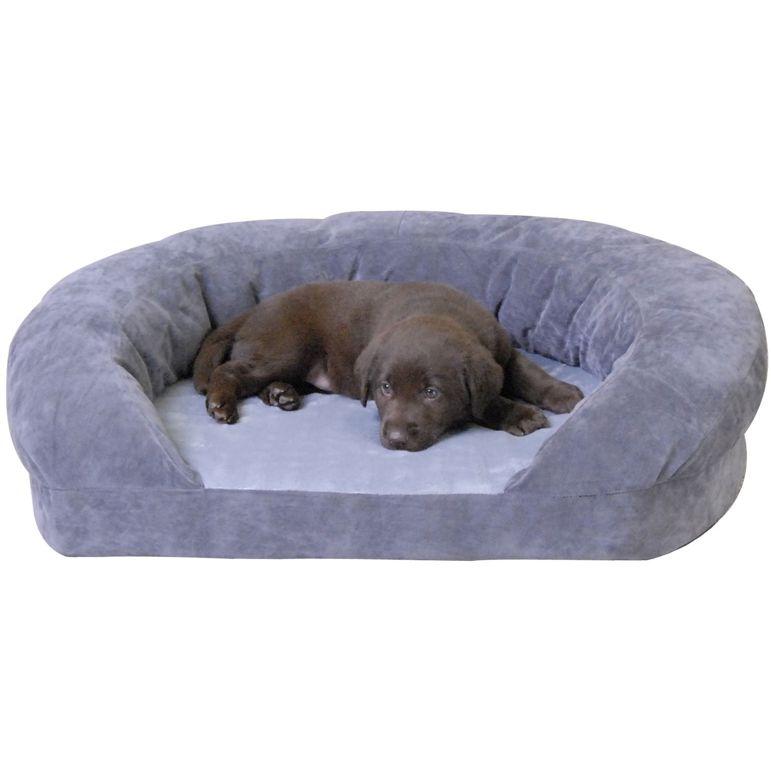K Amp H Orthopedic Bolster Sleeper Dog Bed In Gray Petco
