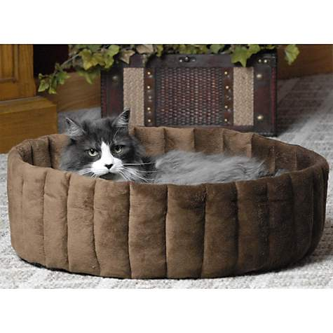 K&H Kitty Cup Tan & Mocha Cat Bed