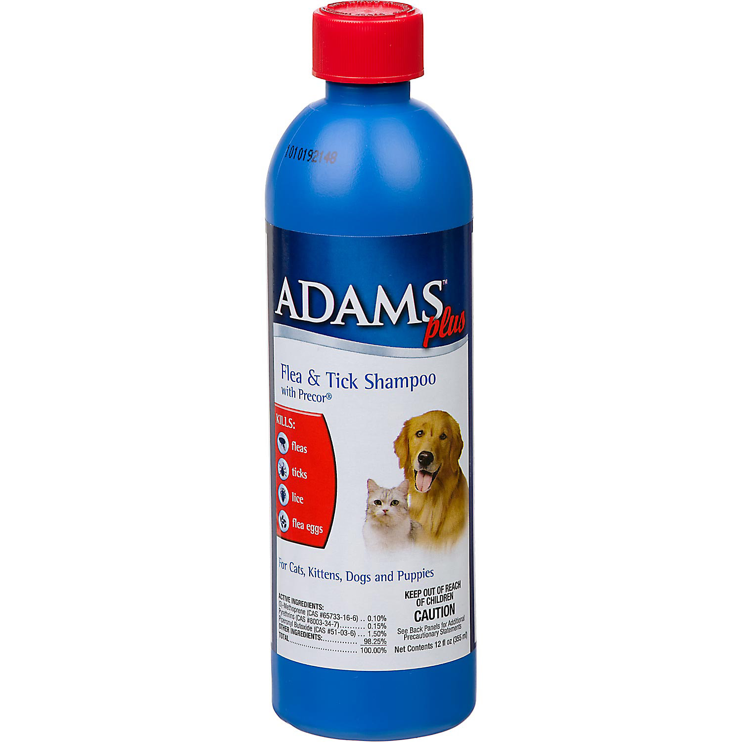 Adams Plus Flea Tick Shampoo With Precor For Dogs And Cats 12 Oz.