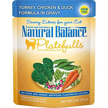 Natural Balance Platefulls Turkey, Chicken & Duck Adult Cat Food