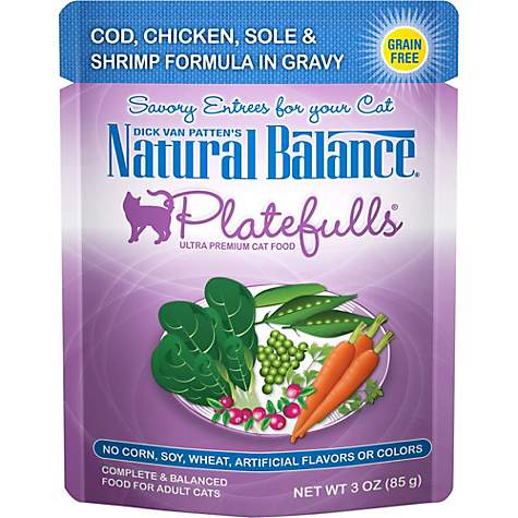 Natural Balance Platefulls Cod, Chicken, Sole & Shrimp Adult Cat Food