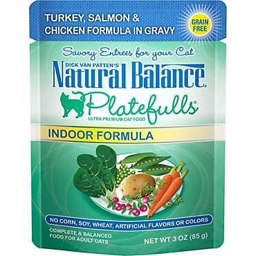 Natural Balance Platefulls Turkey & Salmon Indoor Adult Cat Food
