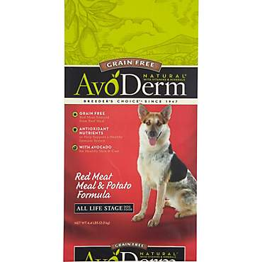 AvoDerm Natural Grain Free Red Meat Meal & Potato Formula Dry Dog Food