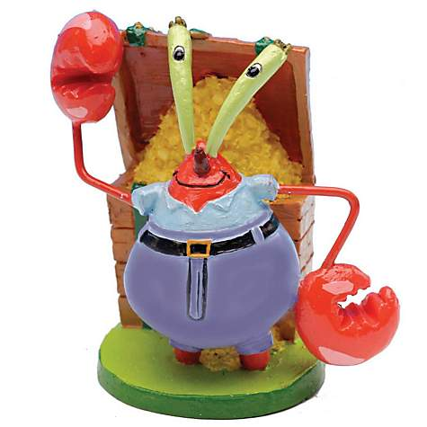 Penn Plax SpongeBob Mr. Krabs Aquarium Ornament