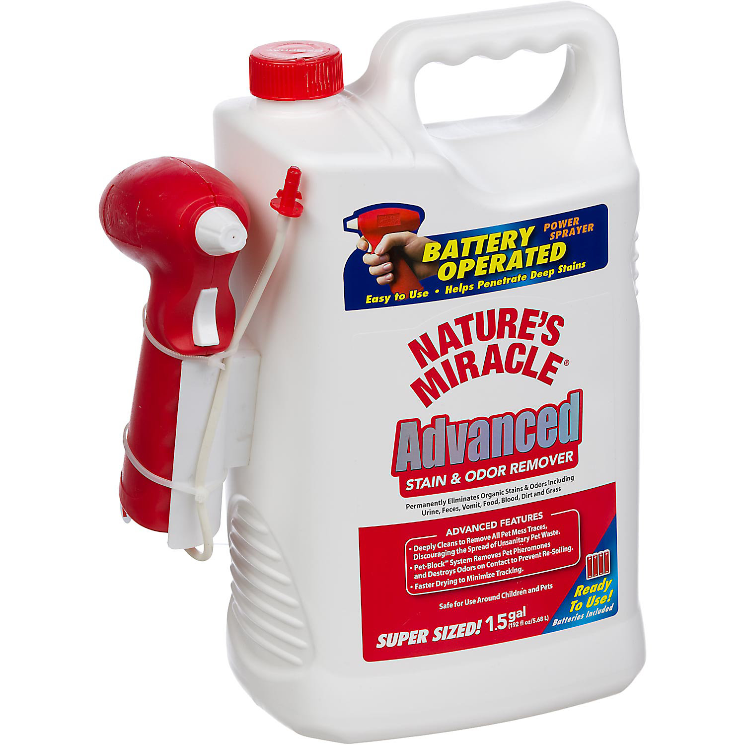 Nature S Miracle Advanced Stain Odor Remover Battery Powered Sprayer