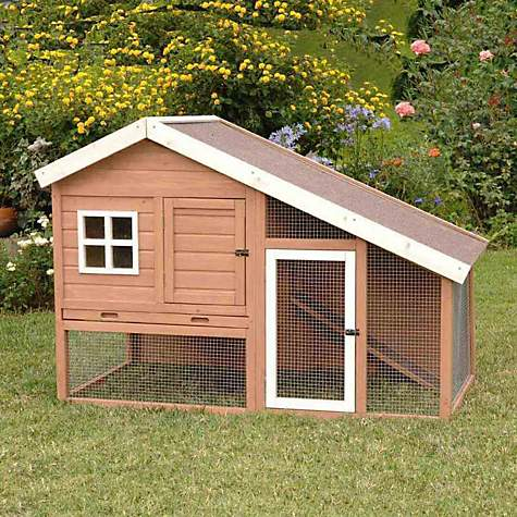 Precision pet cape cod chicken coop or rabbit hutch petco for Homemade bunny houses