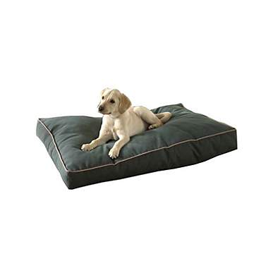 Carolina Pet Company Indoor Outdoor Jamison Green Faux Gusset Dog Bed