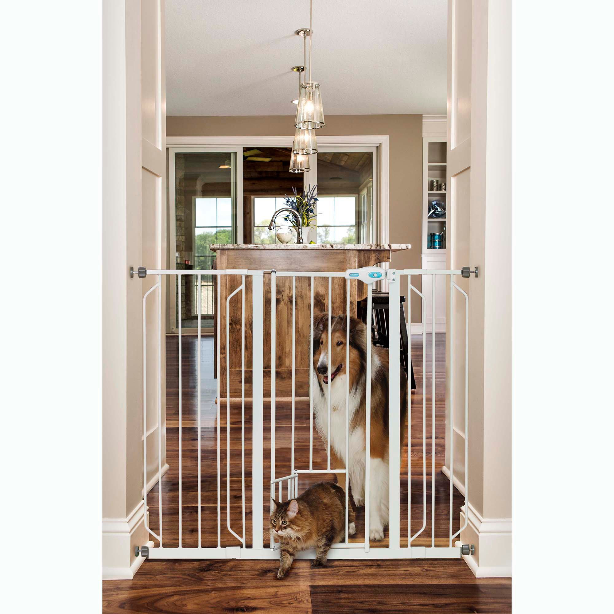 Carlson Pet Products Extra Tall Expandable Gate with Small Pet ...