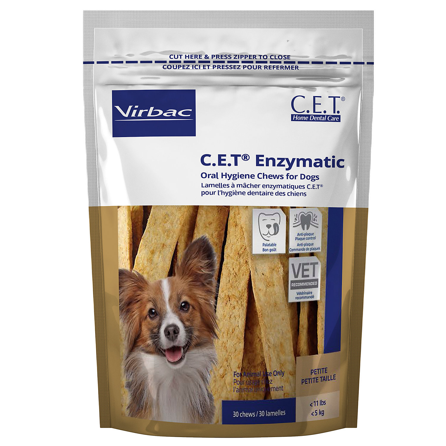 Virbac C.e.t. Oral Hygiene Petite Rawhide Dog Chews, 30 Count