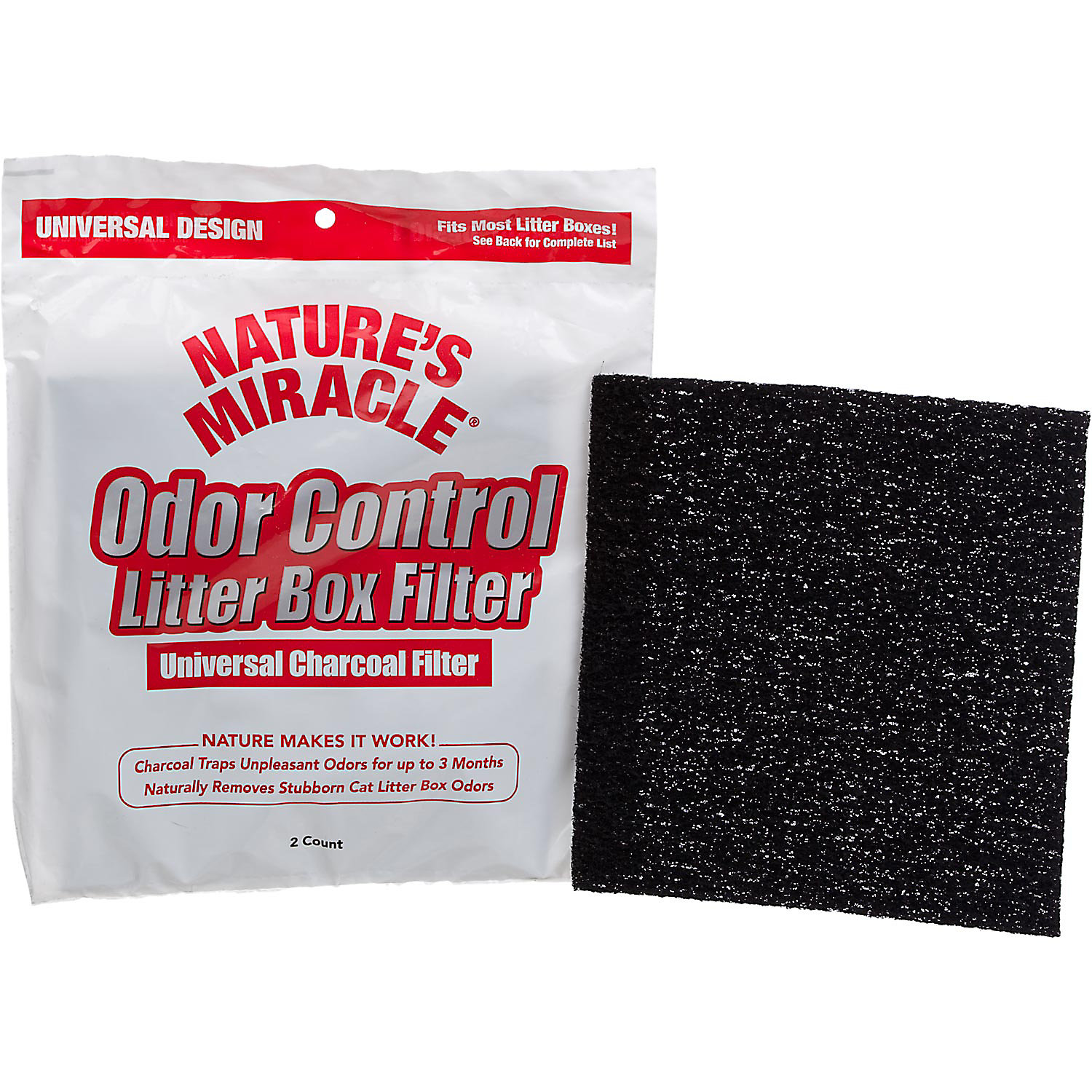 Natures Miracle Universal Odor Control Cat Litter Box Filters