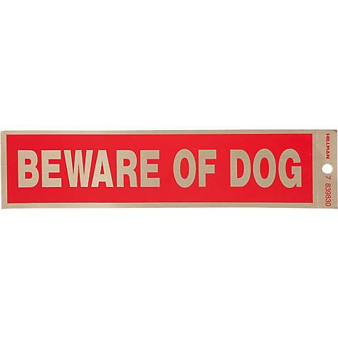 Hillman Sign Center -- Beware of Dog Decal
