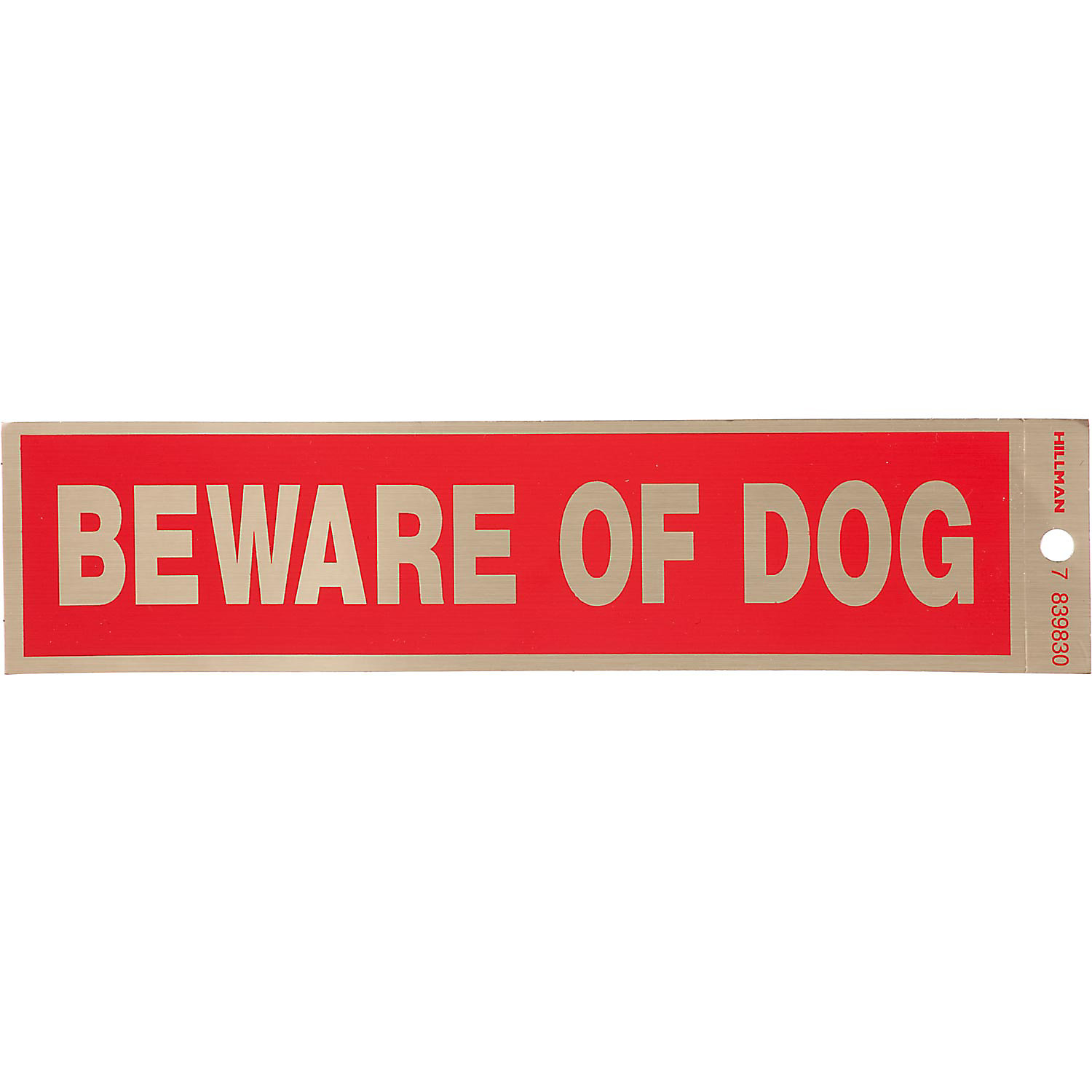 Hillman Sign Center Beware Of Dog Decal 8 L X 2 H