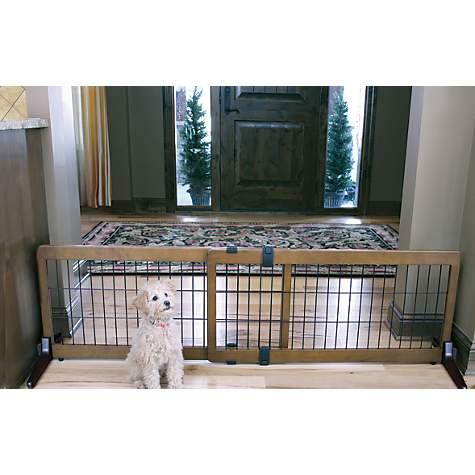 Carlson Pet Products Design Studio Wood Deco Pet Gate Petco