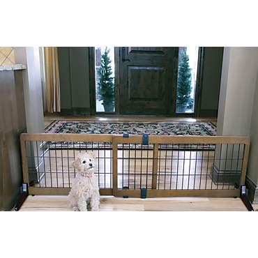 Carlson Pet Products Design Studio Wood Deco Pet Gate