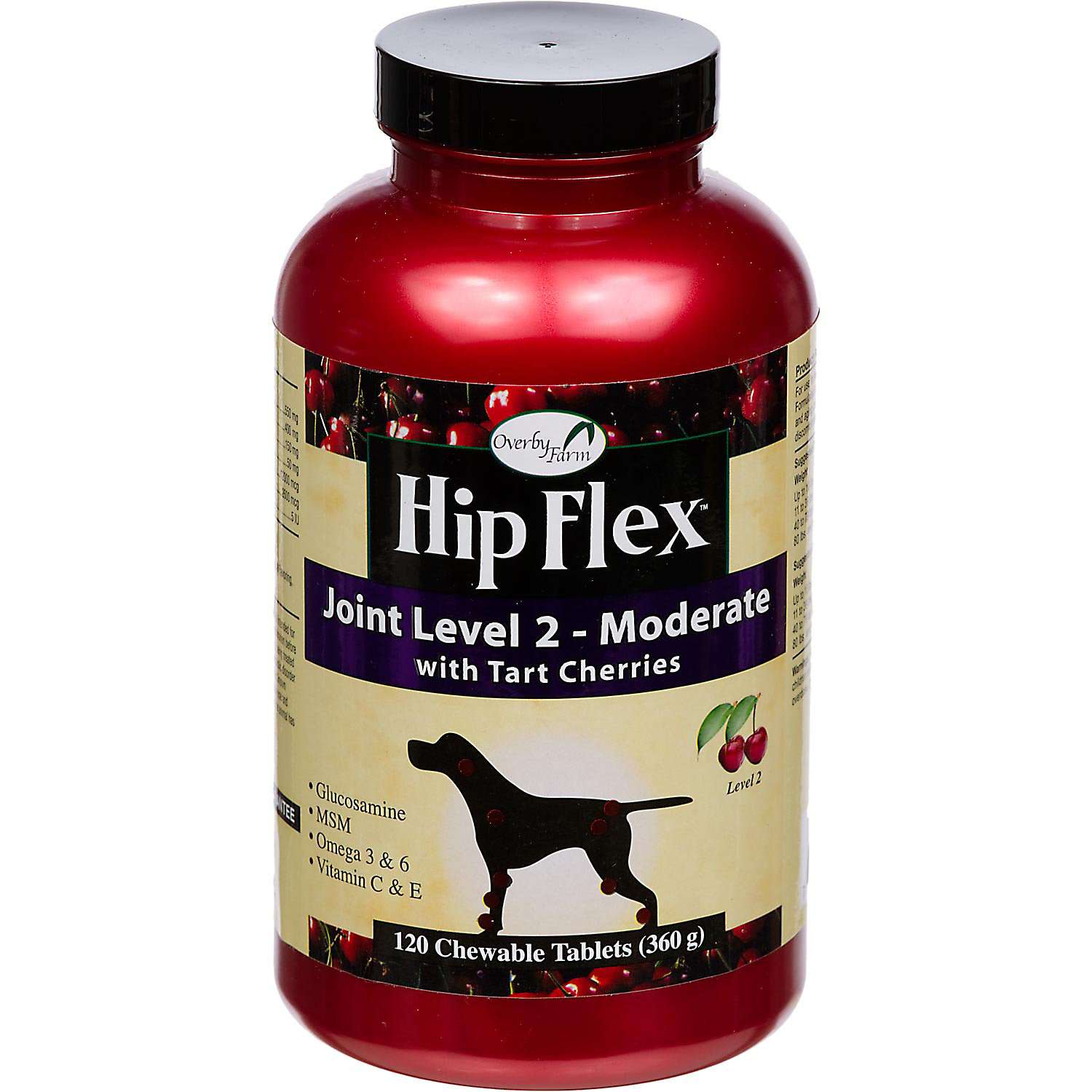 Overby Farm Hip Flex Joint Level 2 Moderate Dog Hip & Joint Supplement, 120 Tablets