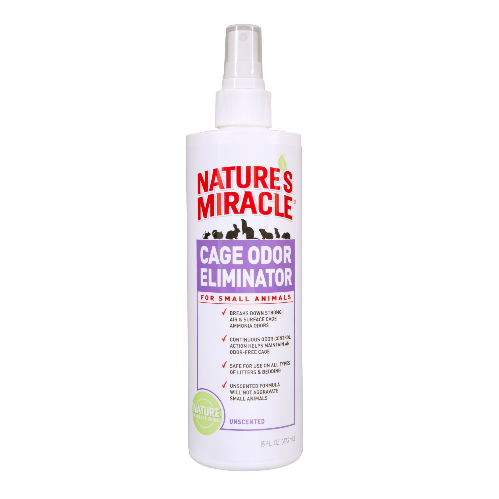 Nature 39 s miracle cage odor eliminator for small animals for Fish tank odor eliminator
