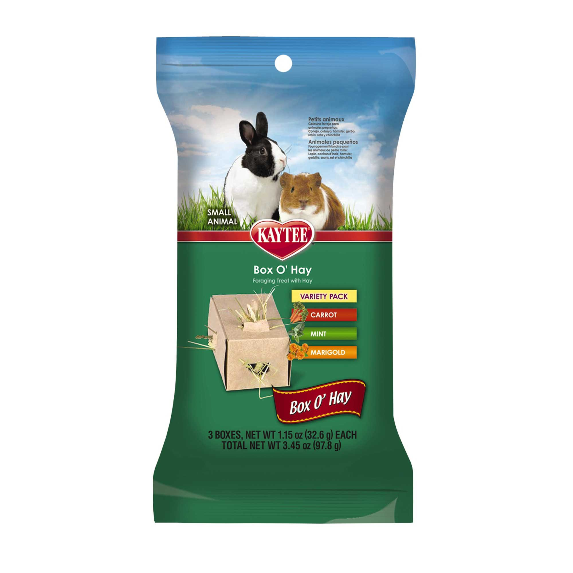 Kaytee Timothy Hay Plus Treat Boxes For Small Animals, Carrot, Mint and Marigold   Petco at Petco in Braselton, GA   Tuggl