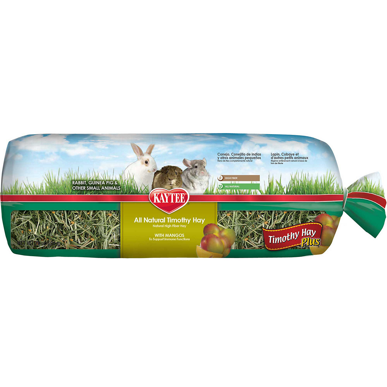 Kaytee Timothy Hay Plus With Mango For Rabbits Small Animals 24 Oz.