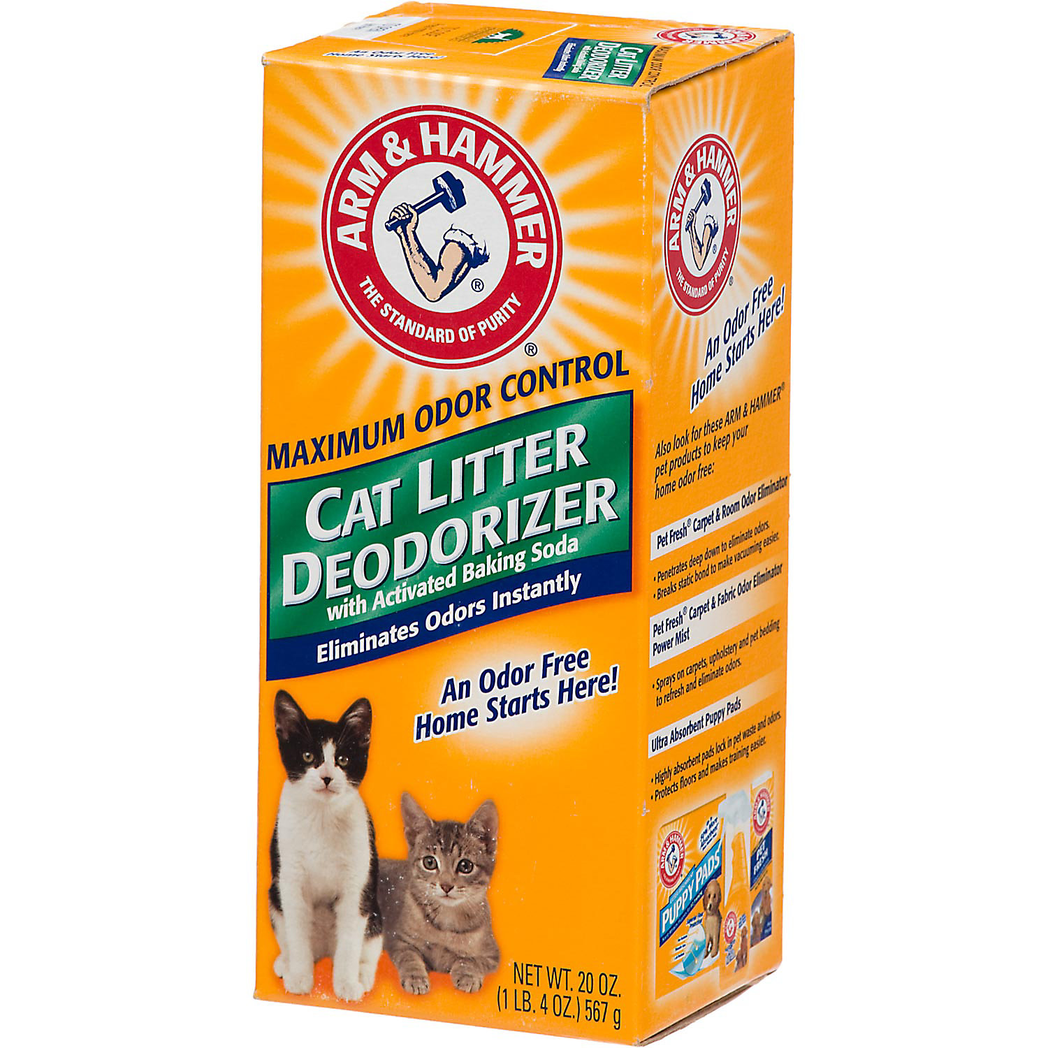 Arm Hammer Cat Litter Deodorizer With Baking Soda 20 Oz.