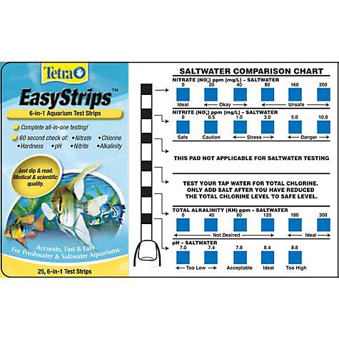 Tetra Easystrips 6 In 1 Aquarium Test Strips Pack Of 25 By