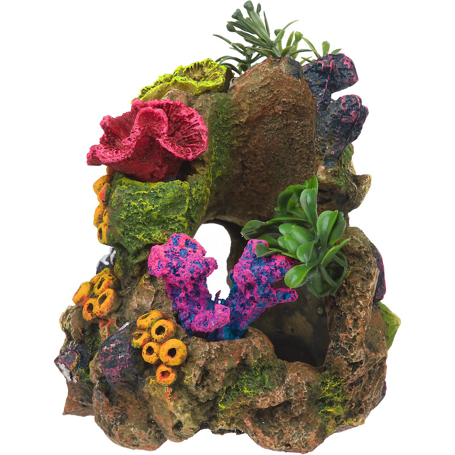 Rockgarden resin aquarium coral garden petco for Aquarium decoration design