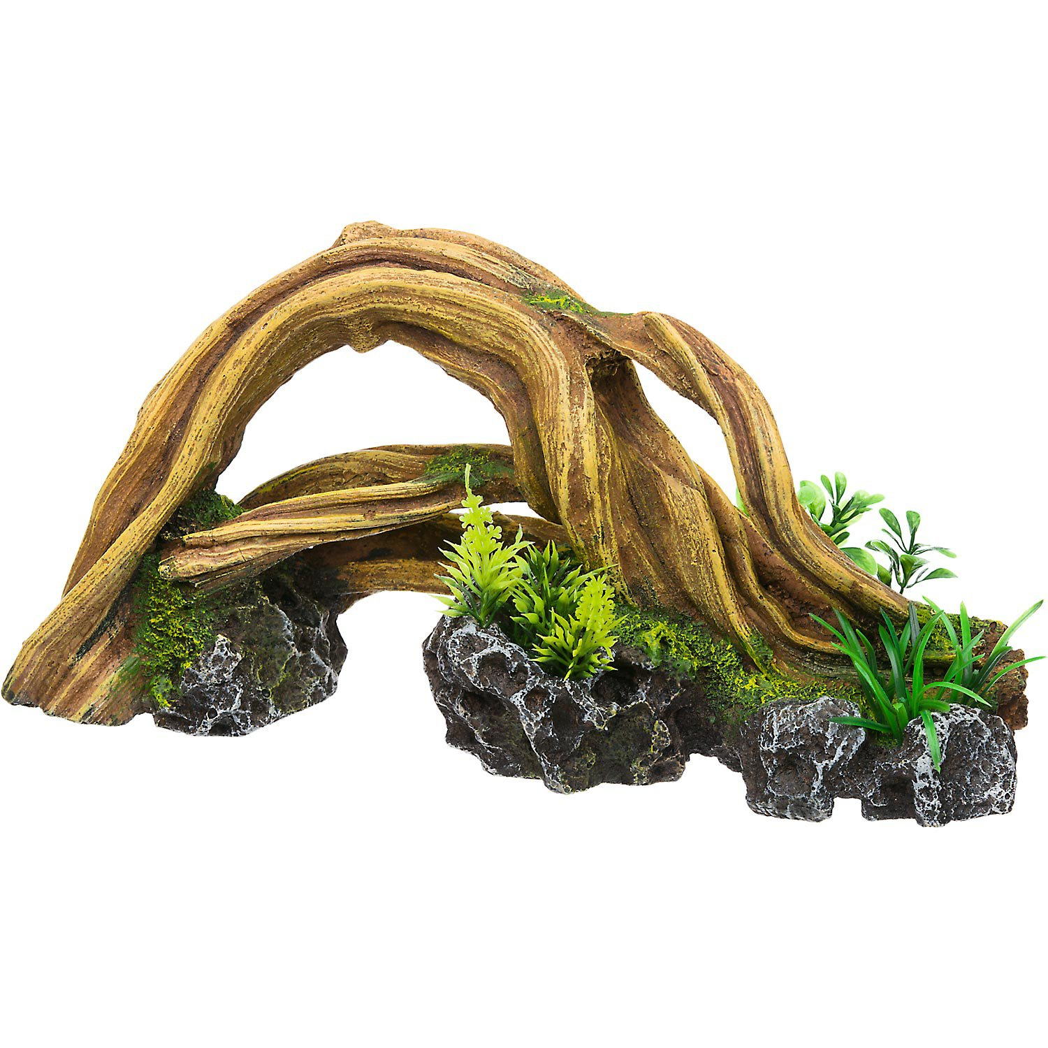 Rockgarden resin wood arch with plants petco for Petco fish prices