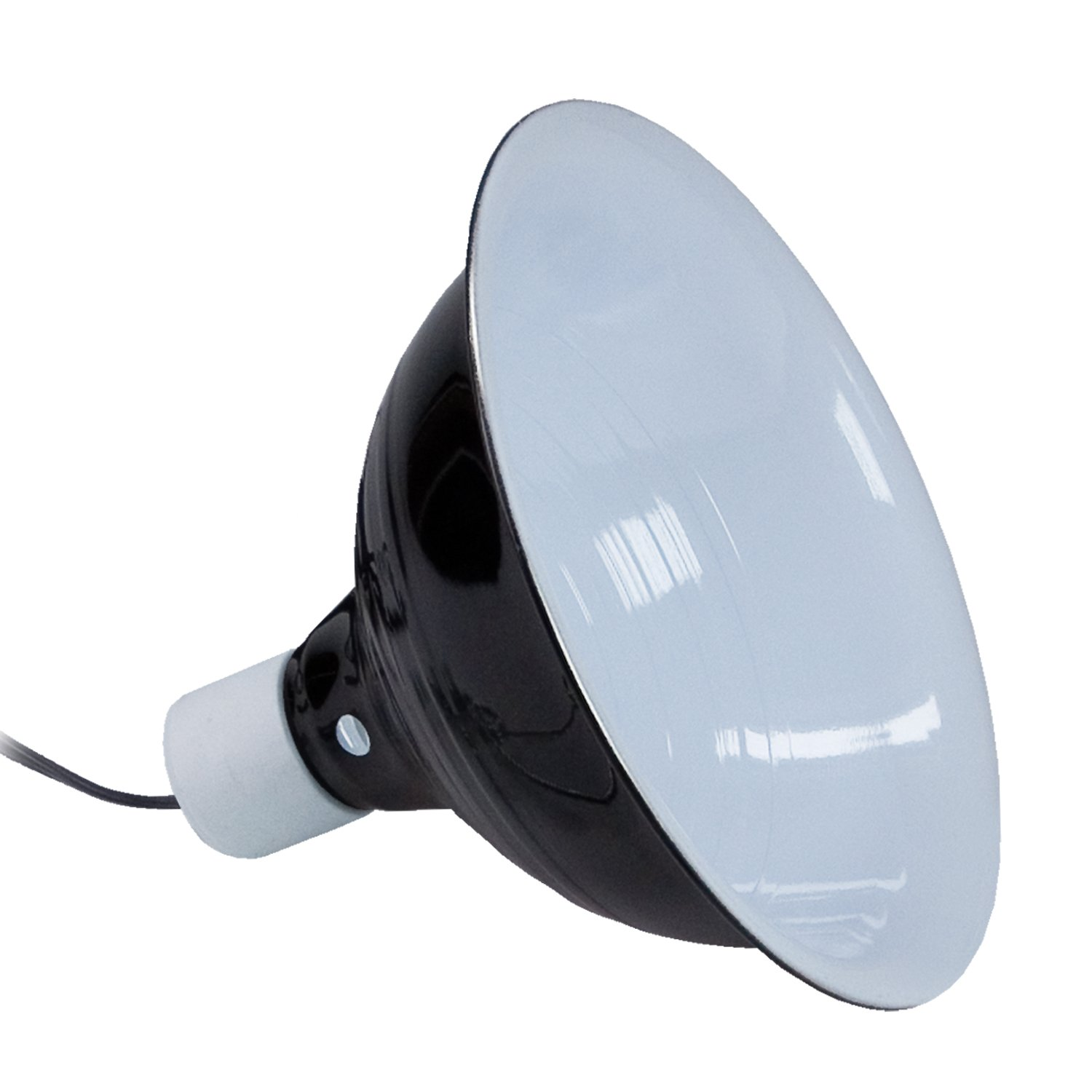 """Shop Light With Reflector: Zilla Black Reflector Dome Lamp, 8.5"""" Length"""
