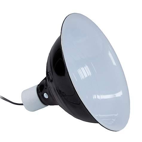 Zilla Black Reflector Dome Lamp, 8.5