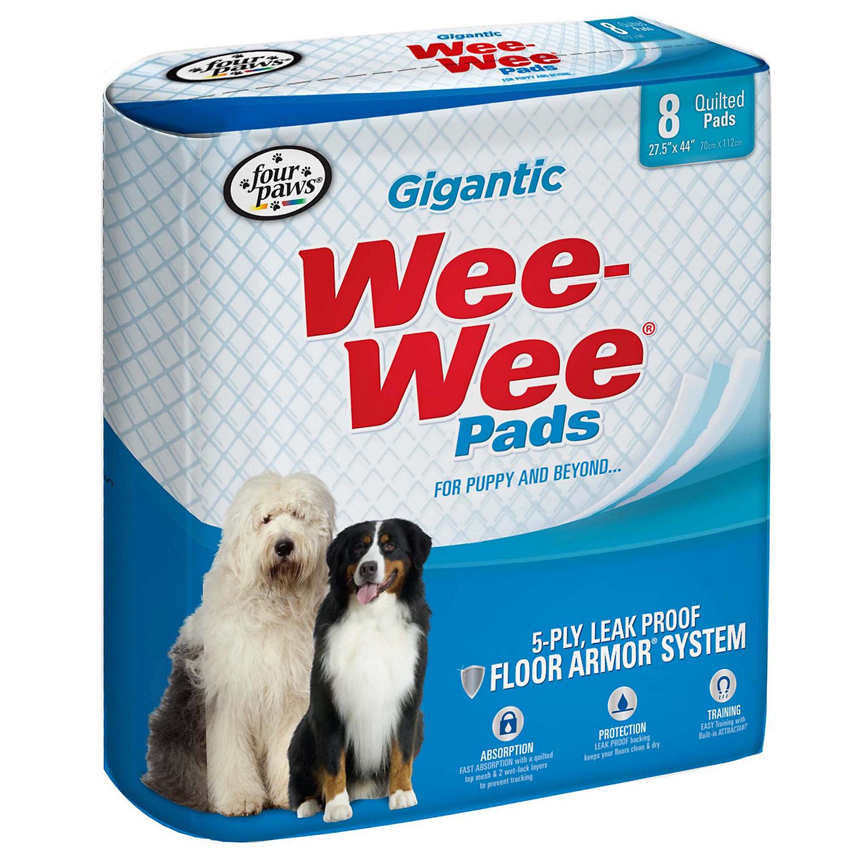 Wee-Wee Pads Gigantic Puppy Housebreaking Pads, 8 CT
