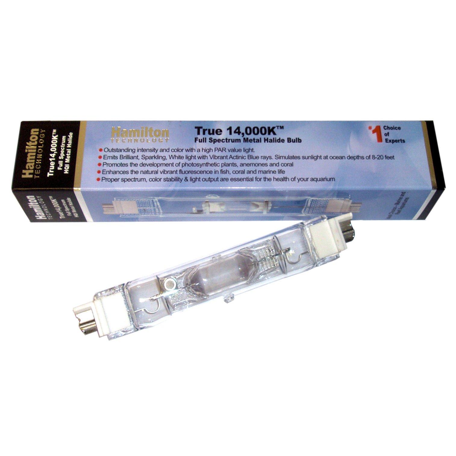Hamilton Technology Metal Halide Hqi 250w 14 000k Double Ended Aquarium Light Bulb Petco