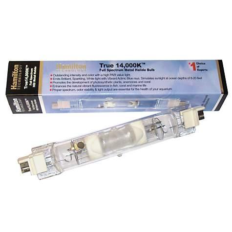 Hamilton Technology Metal Halide Hqi 400w 14 000k Double Ended Aquarium Light Bulb