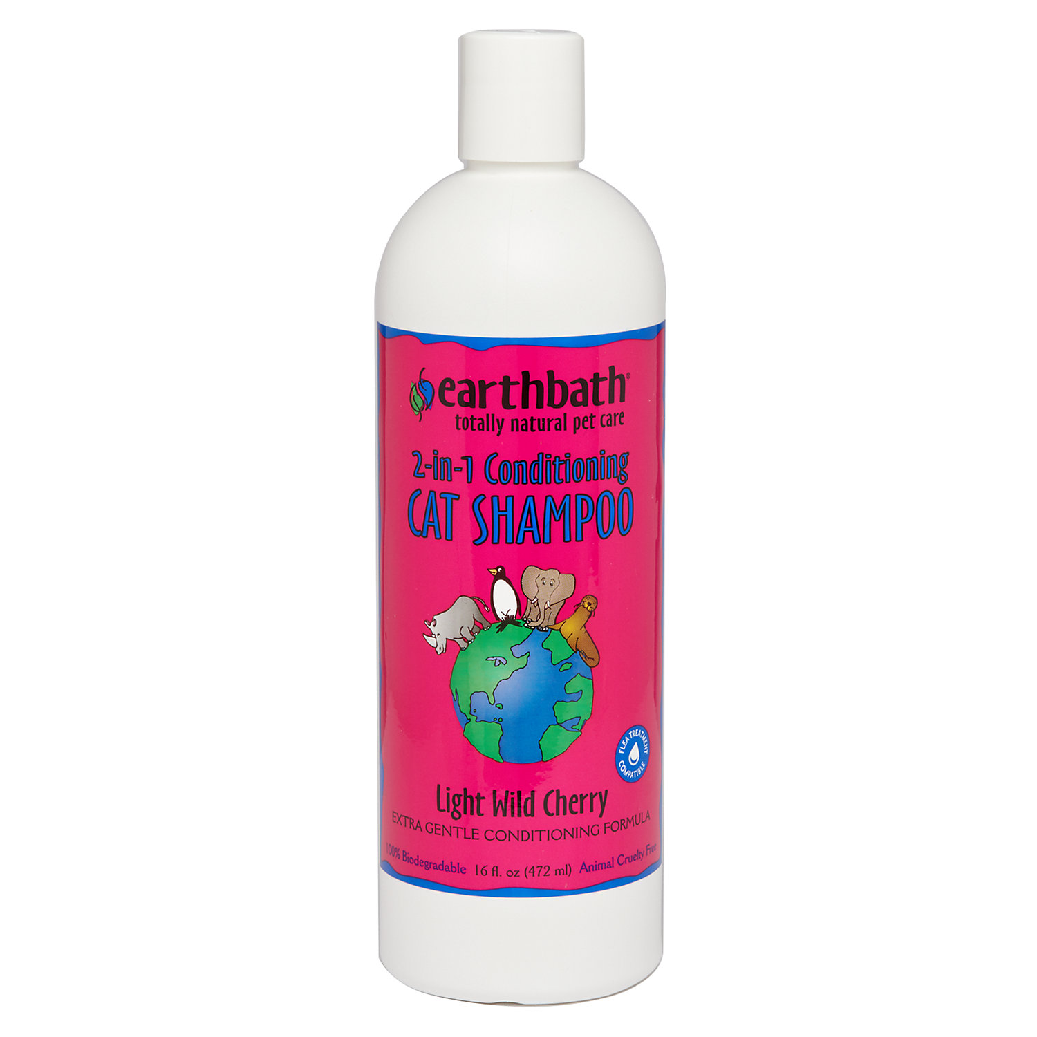 Earthbath Conditioning Formula With Aloe Vera Totally Natural Pet Shampoo 16 Fl. Oz.