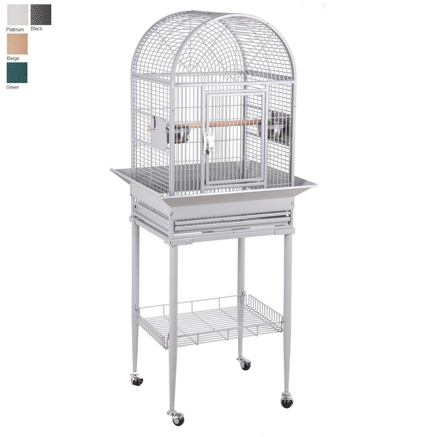 HQ Dometop with Stand Bird Cage in Platinum