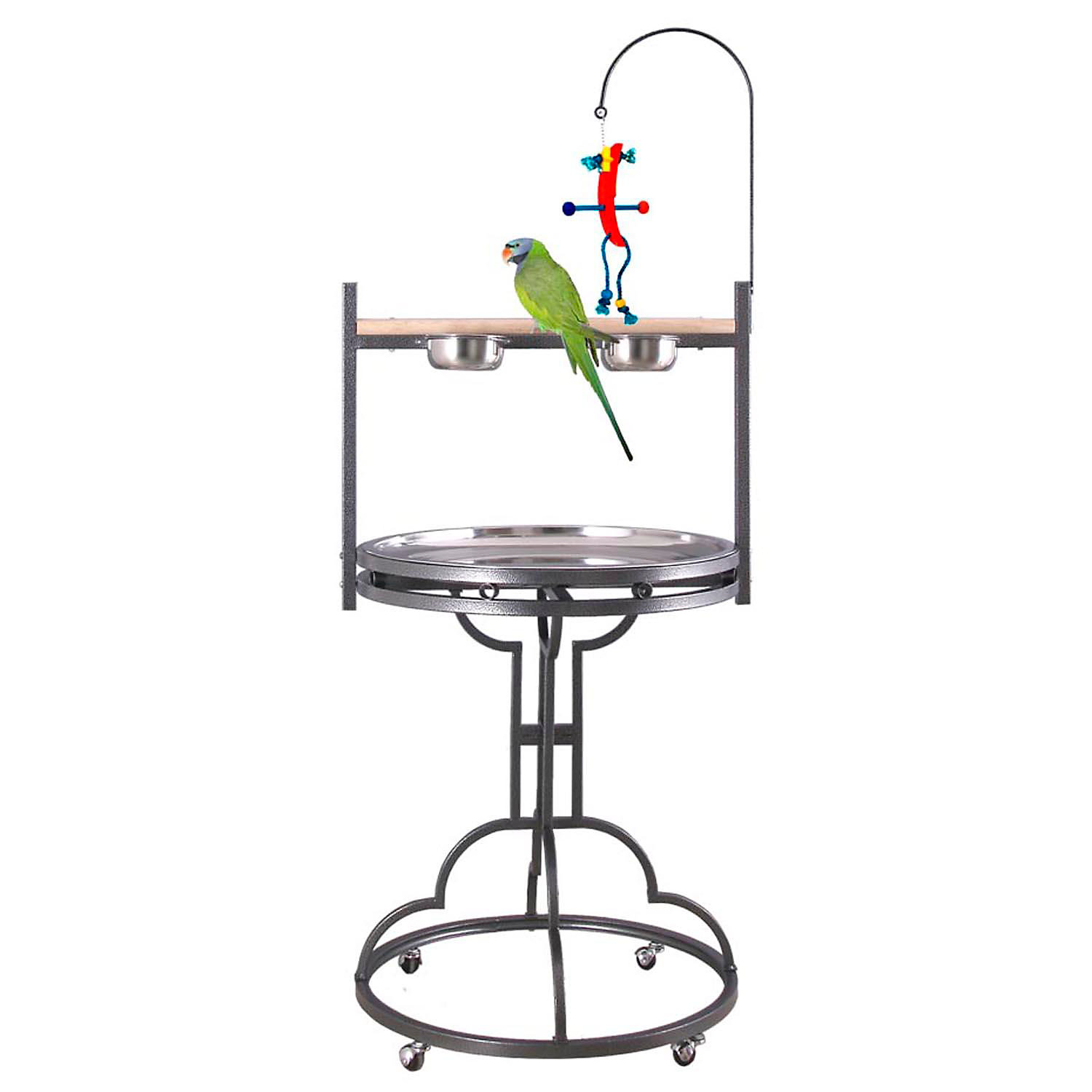 Hq Black Play Stand With Stainless Steel Tray 68 H X 28 Diameter