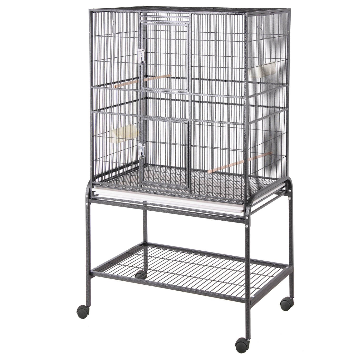 HQ Aviary Flight Cage with Stand in Black | Petco