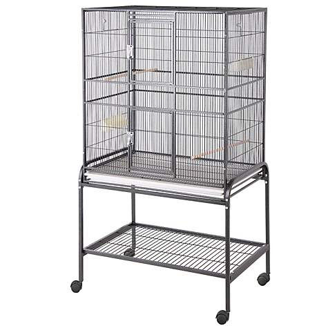 HQ Aviary Flight Cage with Stand in Black